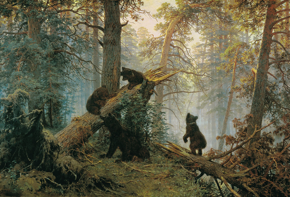 Утро в сосновом лесу Шишкин