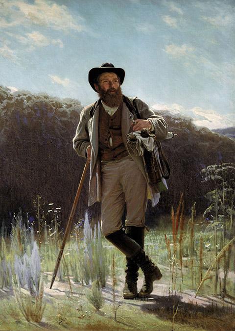 Портрет художника Ивана Ивановича Шишкина (картина Крамского, 1873)