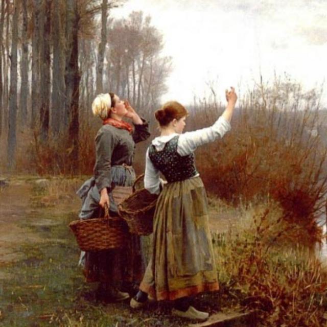 Д. Р. Найт. «Окликая паромщика». (фрагмент) 1890-е, США