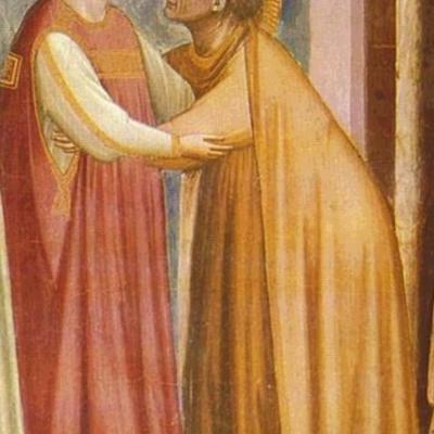 ДЖОТТО. Встреча Марии и Елизаветы (фрагмент)