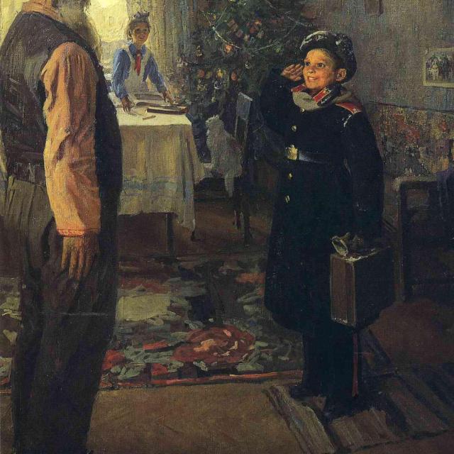 Фёдор Решетников. Прибыл на каникулы. 1948