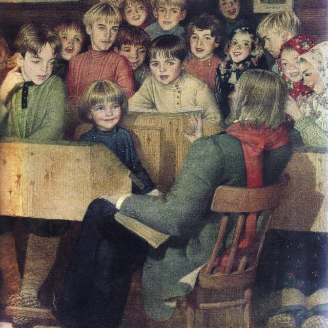 Генадий Спирин. Иллюстрация к рассказу Л.Н.Толстого. Филипок