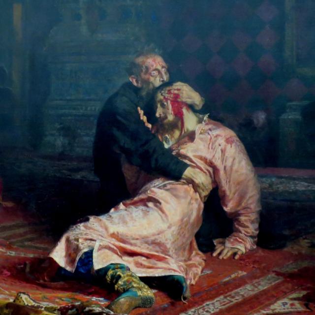 И. Е. Репин. Иван Грозный и сын его Иван 16 ноября 1581 года. Фрагмент картины. 1885