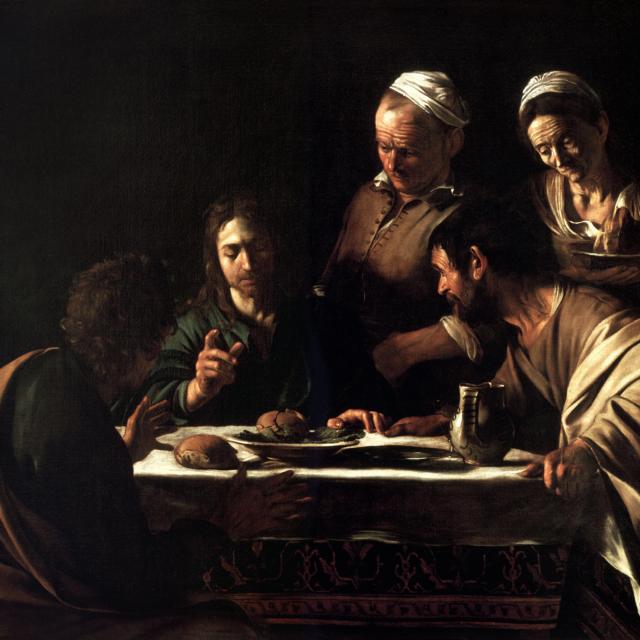 Караваджо. Ужин в Эммаусе, 1606. Пинакотека Брера, Милан