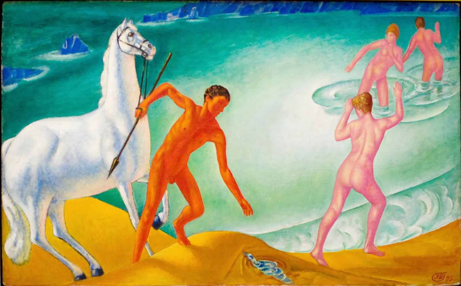 Кузьма Сергеевич Петров-Водкин «Жаждущий воин» (1915)