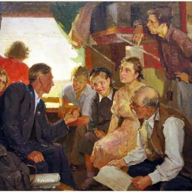 Масик Владимир Ильич «Впервые на Целине», 1959