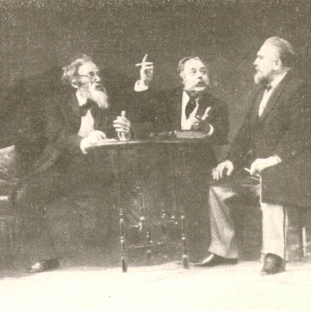 «Плоды просвещения» Л.Толстого. Сцена из спектакля МХАТ.