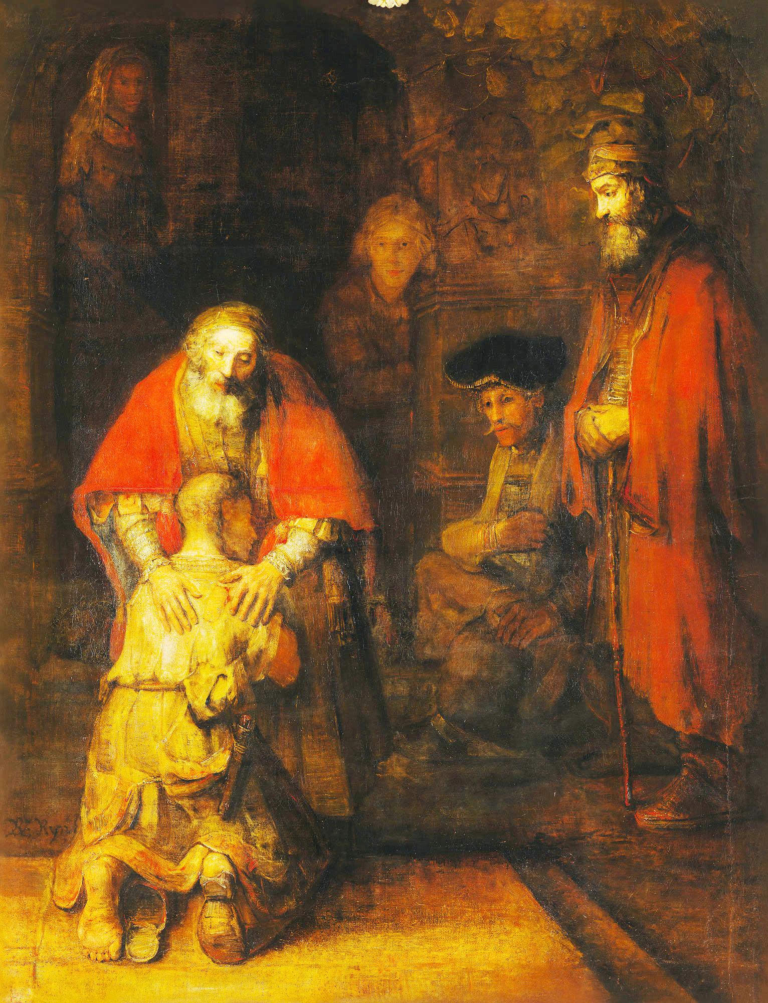 Рембрандт, «Возвращение блудного сына» (1669 г)