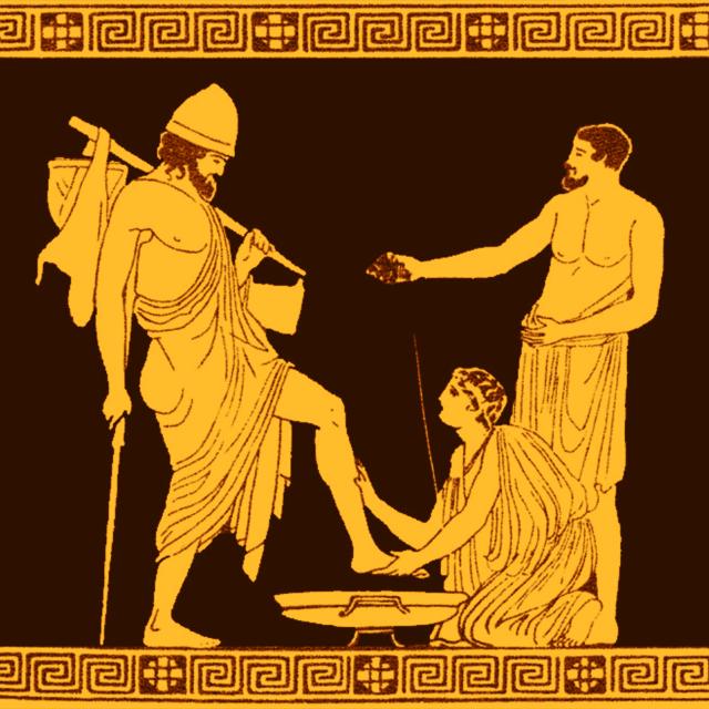 «Служанка Эвриклея омывает ноги Одиссею»