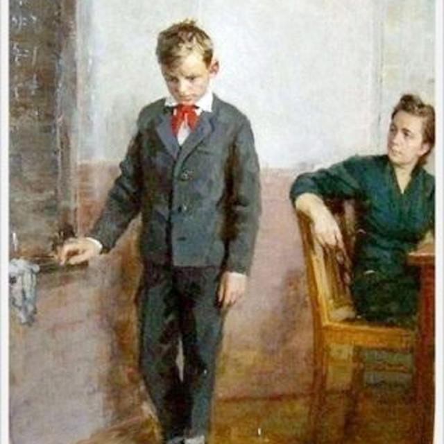 У доски. 1970. Иевлев Владимир Иванович