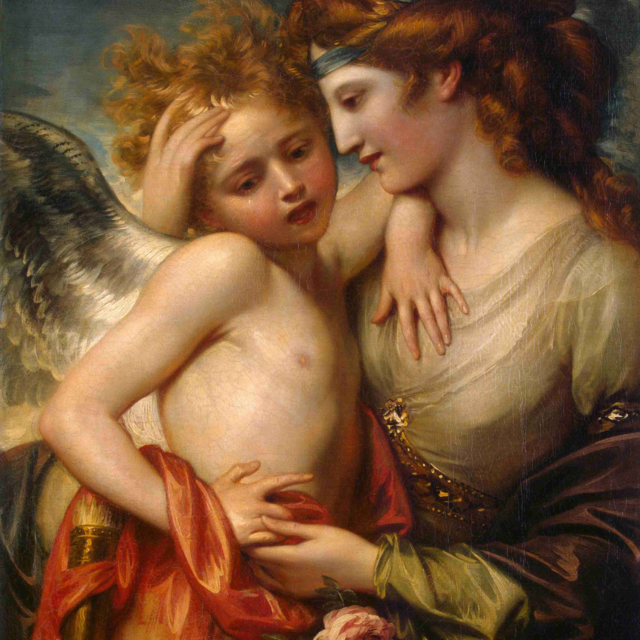 Венера утешает Амура, ужаленного пчелой. Уэст, Бенджамен. 1738-1820