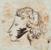 Пушкин. Автопортрет в Ушаковском альбоме. 1829. ПД 1723. Л. 16