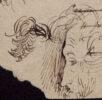Пушкин. Автопортрет в образе старца на черновиках стихотворения «Когда владыка ассирийский…» 9 ноября 1835. ПД 213. Л. 1