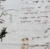 Пушкин. Последний автопортрет. На черновике письма к В. А. Соллогубу, написанному в феврале 1836. ПД 343. Л. 1 об.