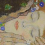 Климт Поцелуй (фрагмент)