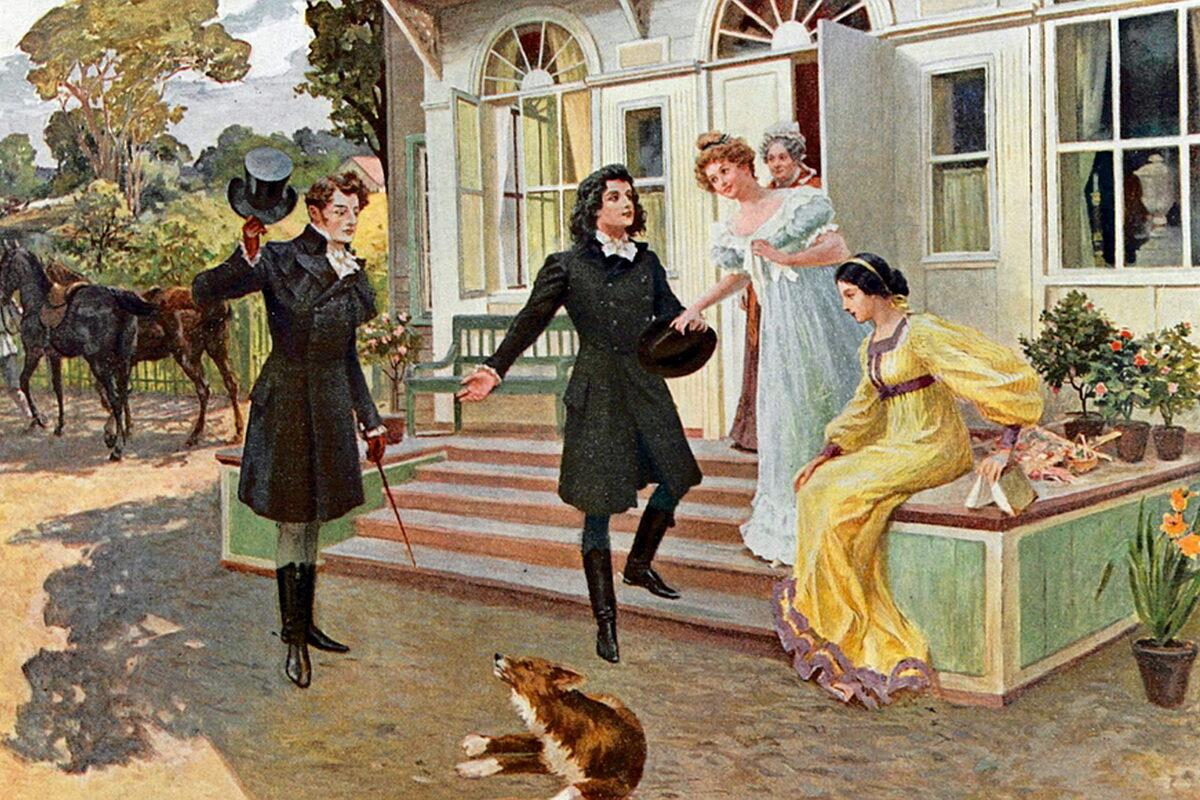 Елена Самокиш-Судковская. Евгений Онегин. 1908. Встреча — ИА